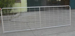 Galvanised Mesh Infill Farm gate - 10 foot - Stewart Trading